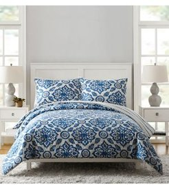 Stitched Medallions Twin/Txl Comforter Set - 2Pc