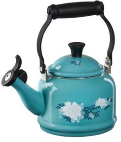 Lotus Collection 1.25-Qt. Demi Teakettle with Applique