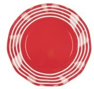 Sophistiplate Striped Wavy Salad Plate, Pack of 16
