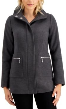 Juniors' Stand-Collar Coat, Created for Macy's