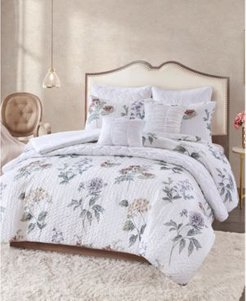 Zinnia 8-Pc. Quilted King Comforter Set Bedding