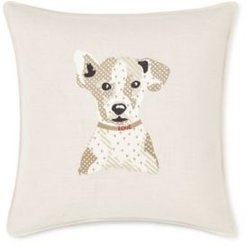 """20"""" L x 20"""" W Augie Embroidered Square Pillow Bedding"""