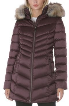 Inc Faux-Fur Trim Hooded Puffer Coat, Created for Macy's