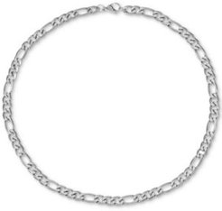 """Inc Men's Figaro Link 24"""" Chain Necklace, Created for Macy's"""