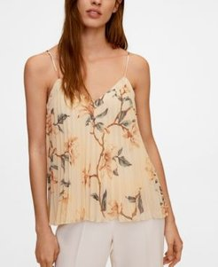 Floral Pleated Top