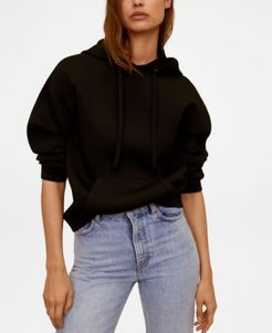 Hooded Flowy Sweatshirt