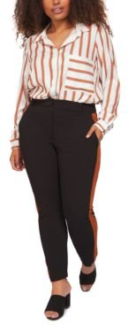 Plus Size Contrast Side-Stripe Pants