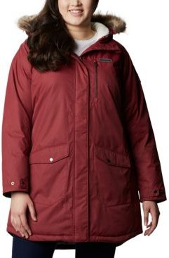Plus Size Suttle Mountain Hooded Faux-Fur-Trim Long Insulated Jacket
