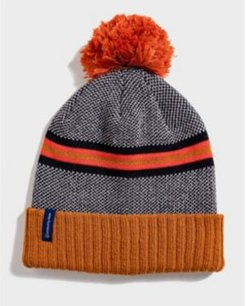 Striped Birdseye Pom Beanie