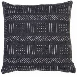 """Mindy Mud Cloth Printed Woven Pillow, 20"""" x 20"""""""