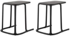 Uno C-Shaped Side Table, Set of 2