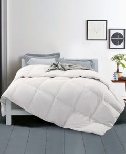 Year Round Down Fiber Gusseted Comforter with Cotton Cover, Twin