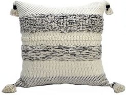"""22"""" L x 22"""" W Throw Pillow for Couch with Tassels"""