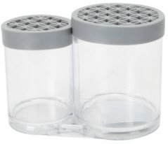 2 Compartment Cosmetic Brush Holder