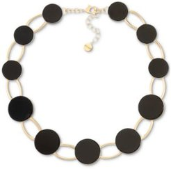 """Gold-Tone Helio Stone Statement Collar Necklace, 18"""" + 2"""" extender, Created for Macy's"""