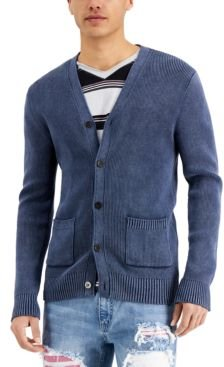 Inc Men's Stonewashed Cardigan Sweater, Created for Macy's
