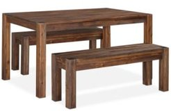 """Avondale 3-Pc. Dining Room Set, Created for Macy's, (60"""" Table & 2 Benches)"""