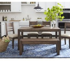 """Avondale 6-Pc. Dining Room Set, Created for Macy's, (60"""" Dining Table, 4 Side Chairs & Bench)"""