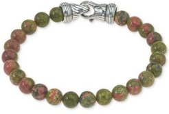 Unakite Bead Bracelet in Sterling Silver, Created for Macy's