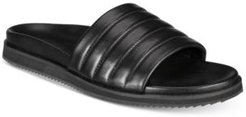 Kenneth Cole Men's Story Quilted Leather Slide Sandals Men's Shoes