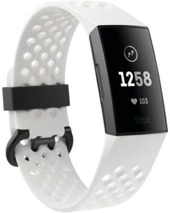 Charge 3 Unisex Interchangeable White & Black Silicone Strap Touchscreen Smart Watch 22.7mm - A Special Edition