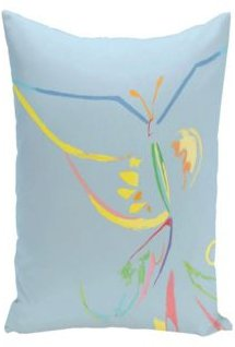 16 Inch Light Blue Decorative Abstract Throw Pillow