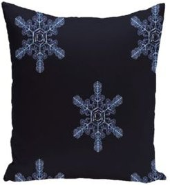 16 Inch Navy Blue Decorative Christmas Throw Pillow