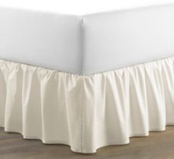Twin Solid Ruffle Ivory Bedskirt Bedding