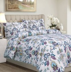 Abstract Paisley Cotton Flannel Printed Oversized Queen Duvet Set Bedding