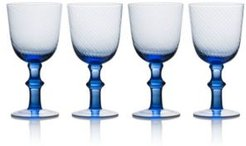 Avalon Blue 14oz Goblets, Set of 4