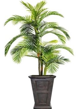 """102.8"""" Tall Palm Tree Artificial Indoor/ Outdoor Lifelike Faux in Fiberstone Planter"""