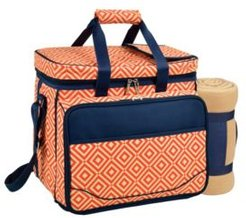 Picnic Cooler for 4 with Blanket - Divided Waterproof Interior