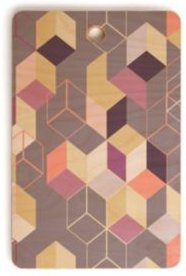 3D Geometry Cubes 1 Rectangle Cutting Board