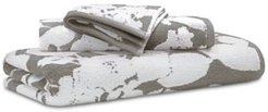 """Sanders Antimicrobial Cotton Floral 16"""" x 30"""" Hand Towel Bedding"""