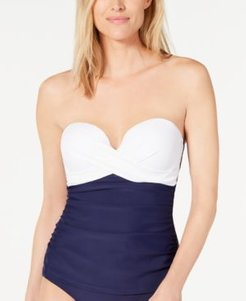 Colorblocked Underwire Tankini Top, Created for Macy's Women's Swimsuit