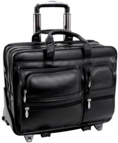 """Franklin 15"""" Patented Detachable Wheeled Laptop Briefcase"""