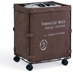 Danya B. Collapsible Canvas Laundry - Clothing Hamper with Wheels