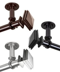 """Bedpost 1"""" Ceiling Curtain Rod/Room Divider 66""""-120"""""""