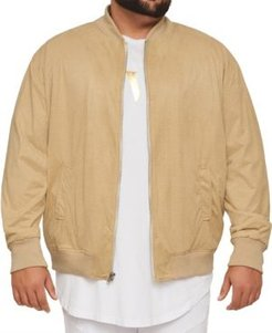Big & Tall Mvp Collections Perforated Suede Bomber Jacket