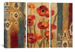 """Ikat Floral Tapestry by Silvia Vassileva Gallery-Wrapped Canvas Print - 40"""" x 60"""" x 1.5"""""""