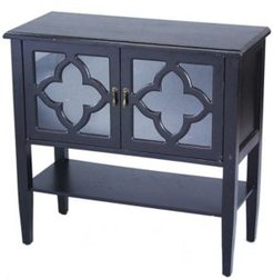 Heather Ann Frasera 2-Door Console Cabinet with Drawer
