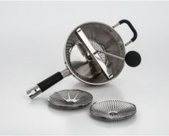 Cookpro Stainless Steel Food Mill with 3 Interchangeable Grinding Size Discs