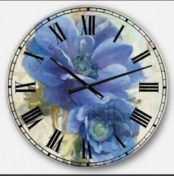 Floral Farmhouse Oversized Metal Wall Clock