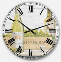 Food and Beverage Oversized Metal Wall Clock