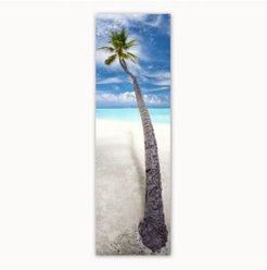 Colossal Images Leaning Palm Canvas Art, 12 x 36