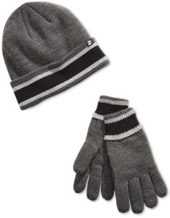 Cuff with Sherpa Lining Beanie and Glove Set