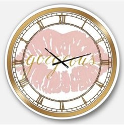 Posh and Luxe Oversized Metal Wall Clock