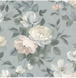 """21"""" x 396"""" Peony Floral Wallpaper"""