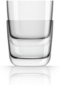 by Palm Tritan Clear Whisky Tumbler, Set of 2