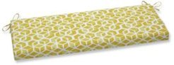 "Celtic Geometric Print 18"" x 45"" Outdoor Bench Cushion"